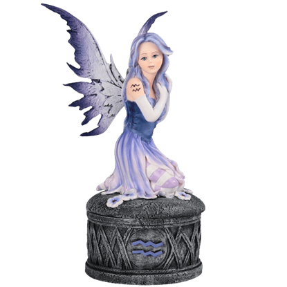 Aquarius Fairy Trinket Box