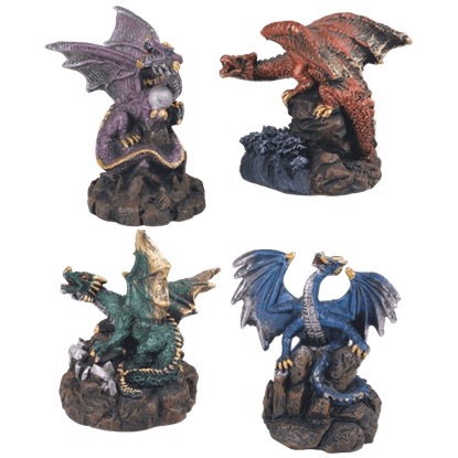 4 Piece Dragons Set