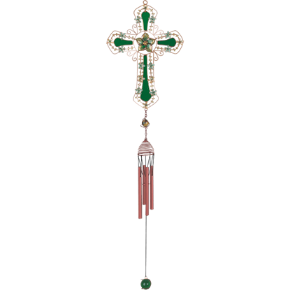 Green Cross Wind Chime