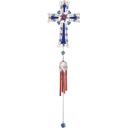 Blue Cross Wind Chime