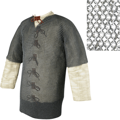 48 Inch Half Sleeve Chainmail Haubergeon