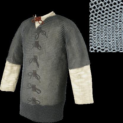 Short Sleeve Butted Chainmail Hauberk
