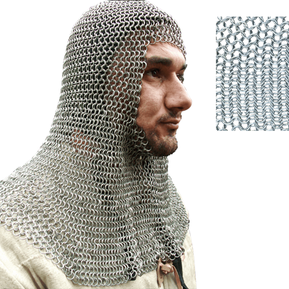 Round Ring Butted Chainmail Coif
