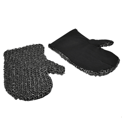 Padded Riveted Chainmail Mittens