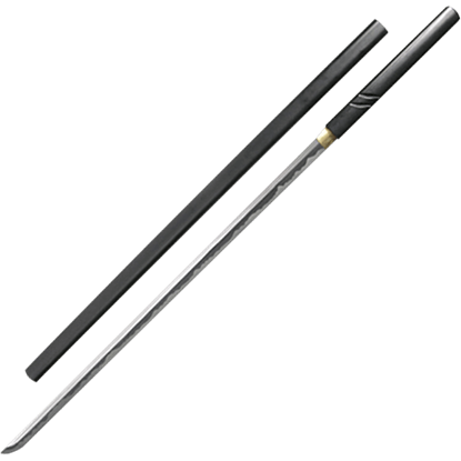 Black Zatoichi Stick Sword