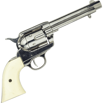 Old West Frontier Nickel Finish Revolver