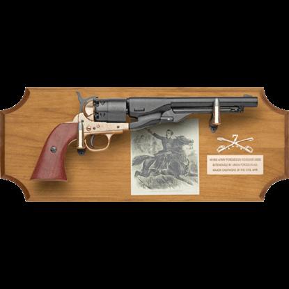 General George A. Custer Wood Display Plaque