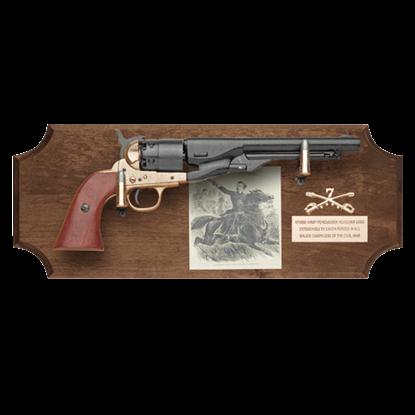 General George A. Custer Dark Wood Display Plaque