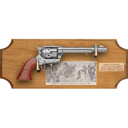 Gunfight at the OK Corral Wood Display Plaque