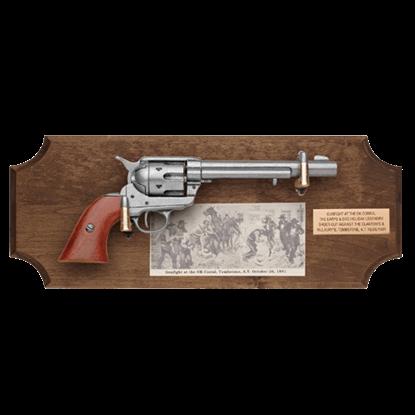 Gunfight at the OK Corral Dark Wood Display Plaque