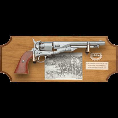 Civil War Union Pistol Wood Display Plaque