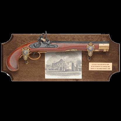 Defenders of the Alamo Dark Wood Display Plaque