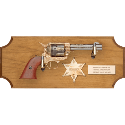 Sheriffs of the Wild West Wood Display Plaque