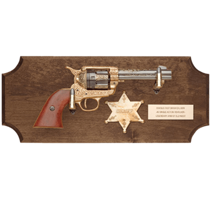 Sheriffs of the Wild West Dark Wood Display Plaque