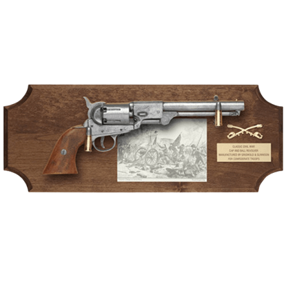 Gettysburg Pistol Dark Wood Display Plaque