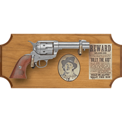 Billy the Kid Wood Display Plaque