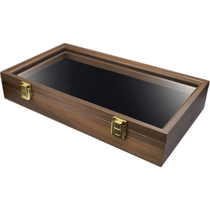 Dark Wood Pistol Replica Display Box
