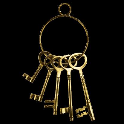 Brass Wild West Jailer Keys