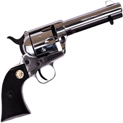 Blank Firing 1873 Nickel Western Six-Shooter
