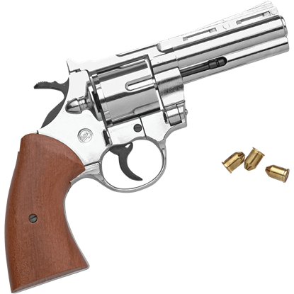 Blank Firing .357 Nickel Detective Revolver