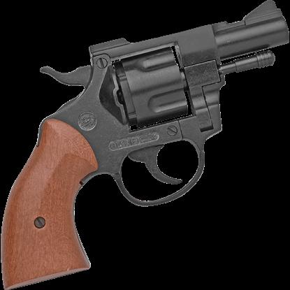 Blank Firing .357 Snubnosed Black Detective Revolver