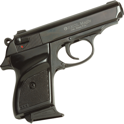 Black Major Blank Firing Pistol