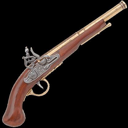 Brass 18th Century German Flintlock Pistol