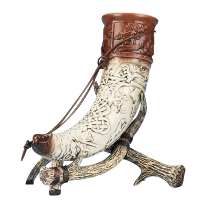 Drinking Horn of Cu Chulainn with Stand