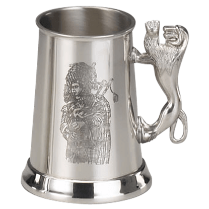 Scottish Piper Pewter Tankard