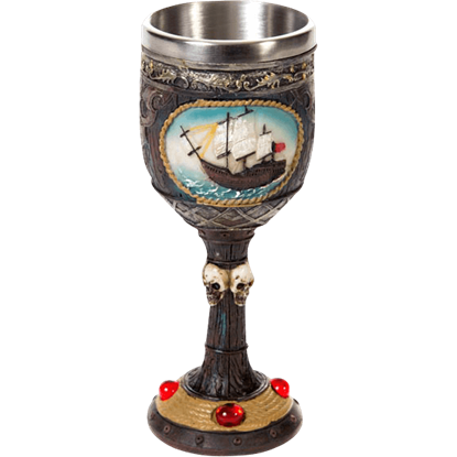 Pirate and Ship Goblet