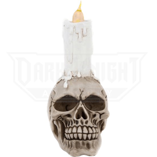 LED Skull Candle