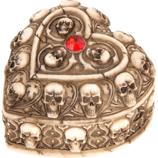 Heart Shaped Ossuary Trinket Box