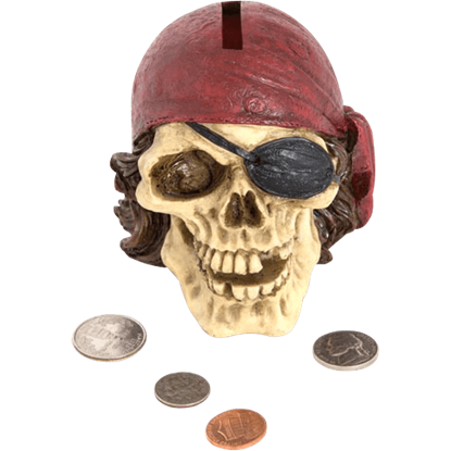 Pirate Skull Bank