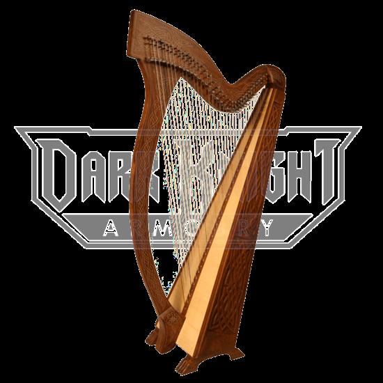 Meghan Harp with Celtic Knotwork