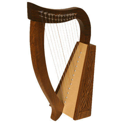 Baby Celtic Harp with Knotwork
