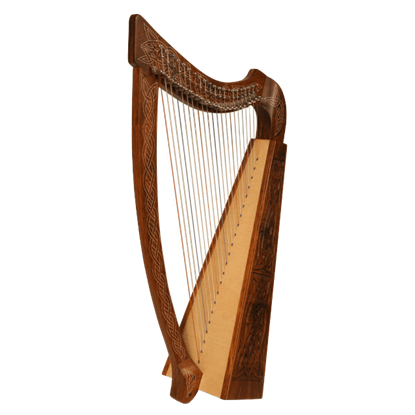 Heather Harp with Celtic Knotwork