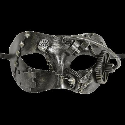 Silver Steampunk Masquerade Mask