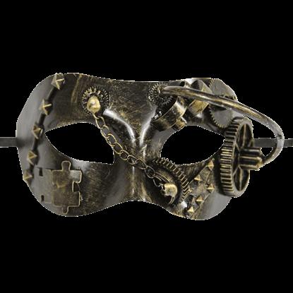 Gold Steampunk Masquerade Mask