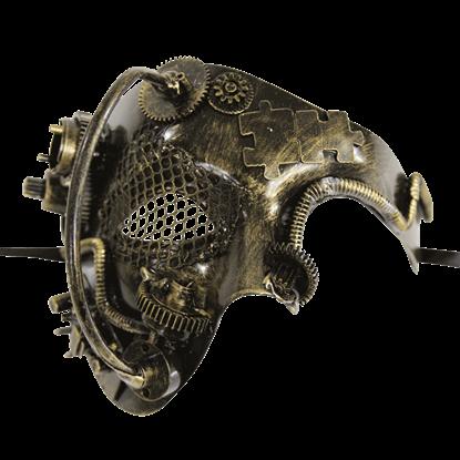 Gold Steampunk Terminator Mask