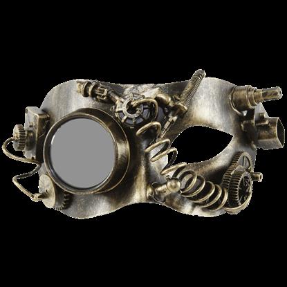Gold Steampunk Monocle Eye Mask