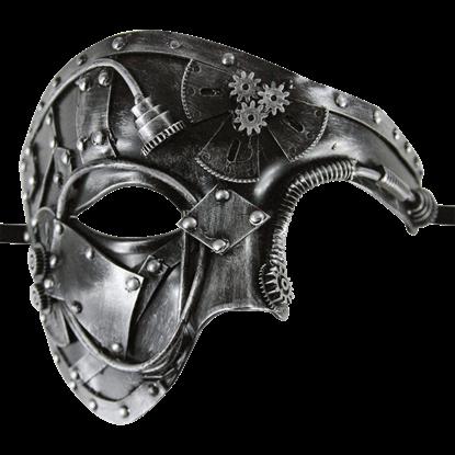 Silver Steampunk Phantom Mask
