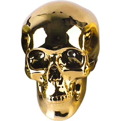 Gold Skull Money Bank