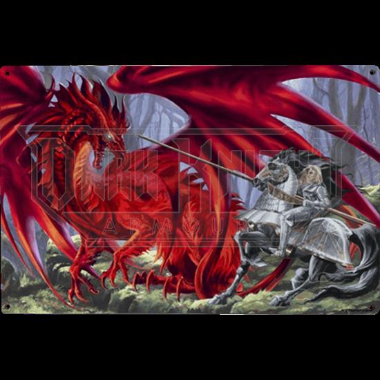 Bloodlust Dragon Metal Sign