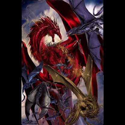 Dragon Battle Metal Sign
