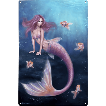Aurelia Mermaid Metal Sign