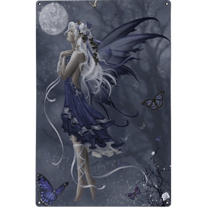 Blue Nocturne Metal Fairy Sign