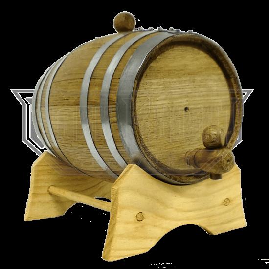 1 Liter Oak Barrel with Steel Hoops