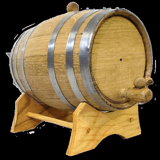 10 Liter Oak Barrel with Steel Hoops