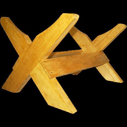 Wooden Crossbar Stand