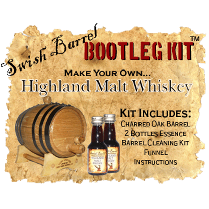 Highland Malt Scotch Whiskey Bootleg Kits - 5 Liter